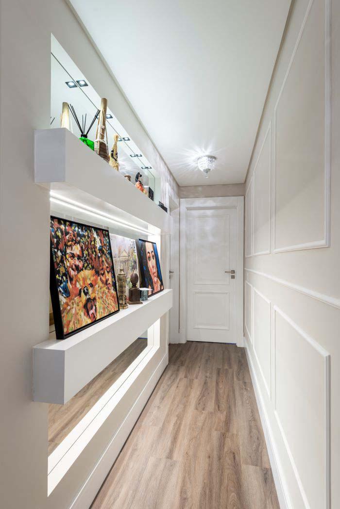 Apartamento com decoração clássica contemporânea